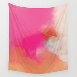 dreamy days in pink peach aquarell Wall Tapestry