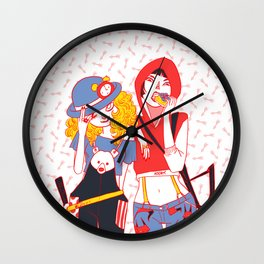 Red Goldie Wall Clock