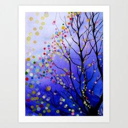 sparkling winter night sky Art Print