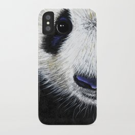 Panda Bear ' PANDA ' by Shirley MacArthur iPhone Case