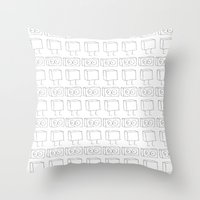 robots Throw Pillows featuring Robots by The Ghost and Robot