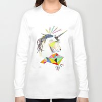 unicorn Long Sleeve T-shirts featuring Unicorn by Belén Segarra