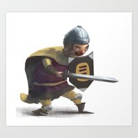 knight Art Prints featuring Knight by Creative Safari