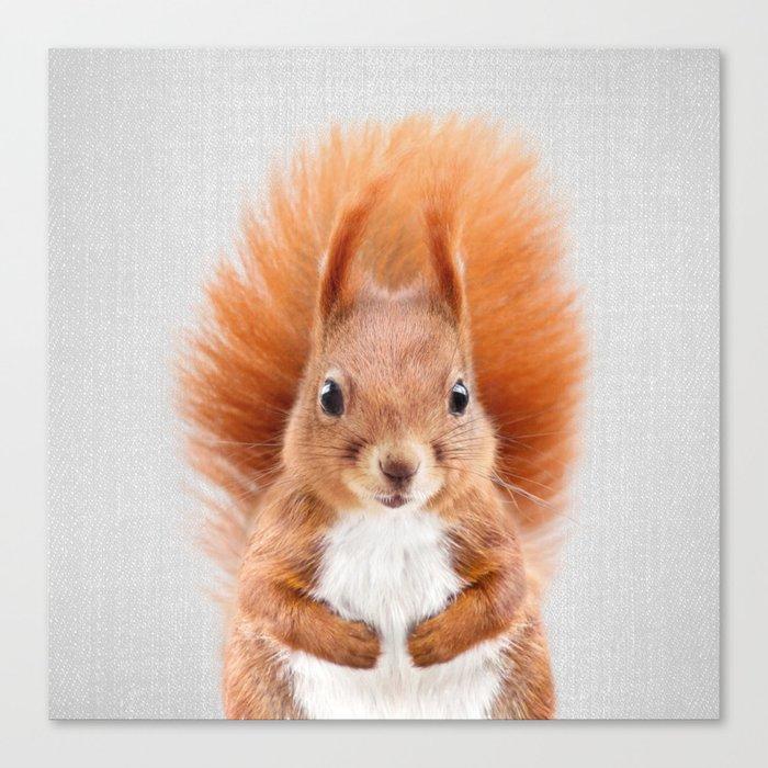 Squirrel 2 - Colorful Canvas Print