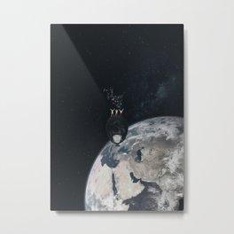 Sparkling Cheerleader Boys In Space Metal Print