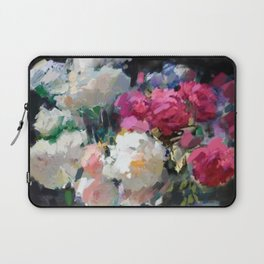 Still Life with White & Pink Roses Laptop Sleeve