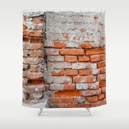 Red hand crafted brick Shower Curtain
