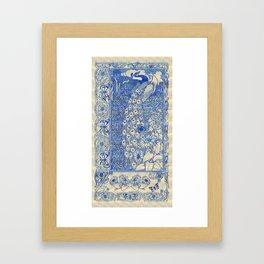 Garden Peacock Pair Framed Art Print