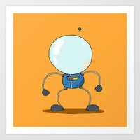 Steamboat Astronaut Art Print