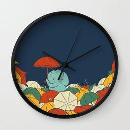 Umbrellaphant Wall Clock