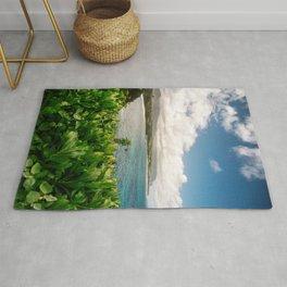 Kilauea Lookout Kauai Hawaii | Tropical Beach Nature Ocean Coastal Travel Photography Print Rug