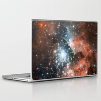 nasa Laptop & iPad Skins featuring Bright nebula stars galaxy hipster geek cool space Nasa orange nebulae photograph by iGallery