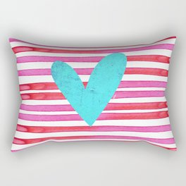 Soulmates Lines and Hearts Rectangular Pillow