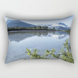 Placer River at the Bend in Turnagain Arm, No. 2 Rectangular Pillow