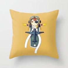 Pilot Banner Throw Pillow