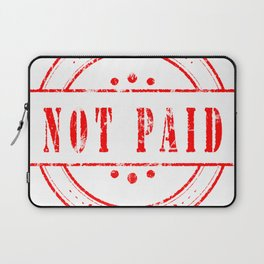Not Paid Stamp Collection Laptop Sleeve