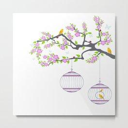 Birds Tree Metal Print