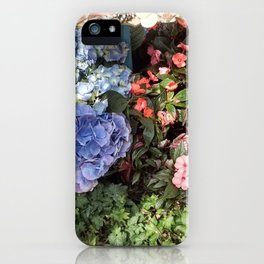 Hydrangeas and Impatiens iPhone Case