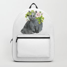 cat with flower crown Backpack