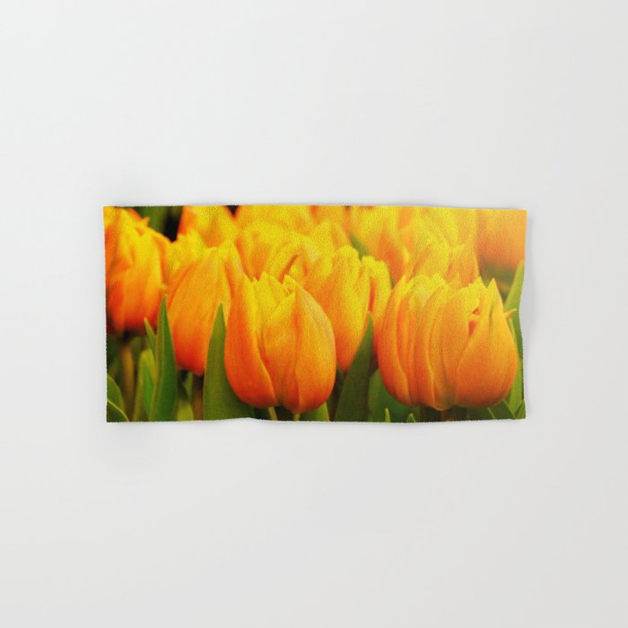 Yellow Tulips Hand & Bath Towel