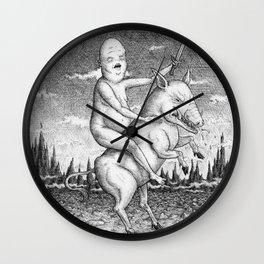 The Pig Rider Wall Clock