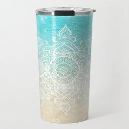 Beach Mandala Travel Mug