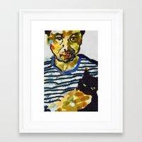 murakami Framed Art Prints featuring haruki murakami by Basma