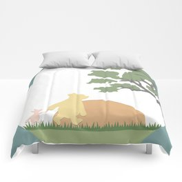 Winnie the Pooh and Piglet Comforters
