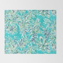 KAILUA CHILL Tropical Hawaiian Floral Throw Blanket