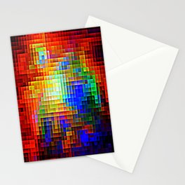 COLORFUL Pixels Stationery Cards