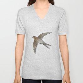 Common Swift in the air Unisex V-Neck
