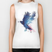live Biker Tanks featuring Bloody Crow by Robert Farkas