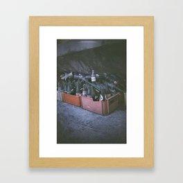 Bottle of memories Framed Art Print