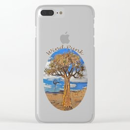 Wind Punk Golden Quivers Clear iPhone Case
