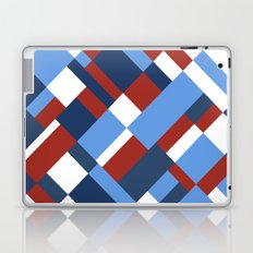 Map 45 Red White and Blue Laptop & iPad Skin