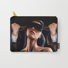 Of Human Bondage - Woman Blindfolded Carry-All Pouch