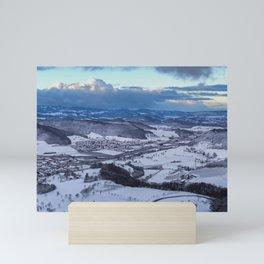 Winter Landscape Panorama Mini Art Print