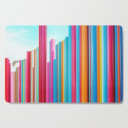 Colorful Rainbow Pipes Cutting Board