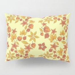 Physalis on light yellow background Pillow Sham