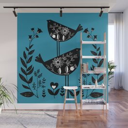 Danish Birds Bring Good Luck And A Good Life Wall Mural