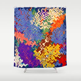 Way Abstraction Shower Curtain