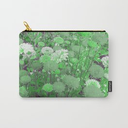bright green flowersreatment Carry-All Pouch