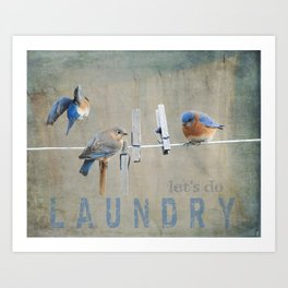 Laundry Day Let's Do Laundry Art Print