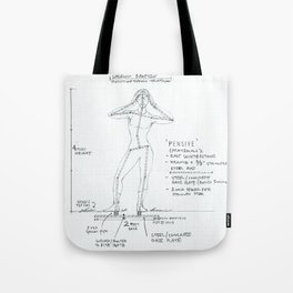 Pensive Drawing, Transitions through Triathlon Tote Bag