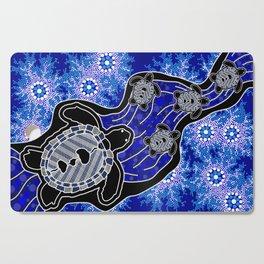 Baby Sea Turtles - Aboriginal Art Cutting Board