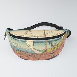 "Hokusai (1760–1849) ""The Kazusa Province sea route"" Fanny Pack"