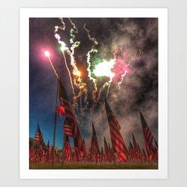 1,000-Flag Charlestown Field Of Honor Art Print