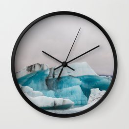 Iceberg in the glacial lagoon in Iceland - landscape photography Wall Clock