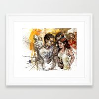 rave Framed Art Prints featuring rave by Satish Gangaiah