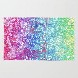 Fantasy Garden Rainbow Doodle Rug